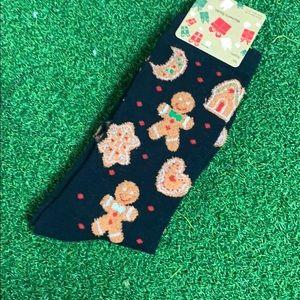 Gingerbread Christmas Cookies Holiday Crew Socks